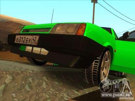 VAZ 2109 hiver pour GTA San Andreas vue arrière