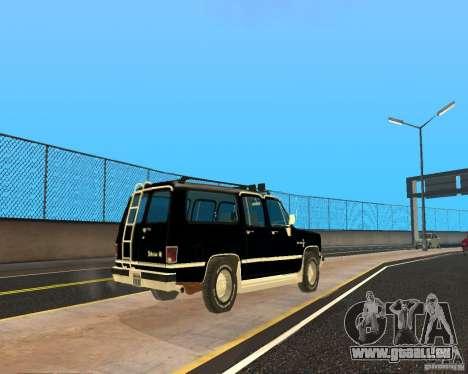 Сhevrolet 1986-Suburban für GTA San Andreas zurück linke Ansicht