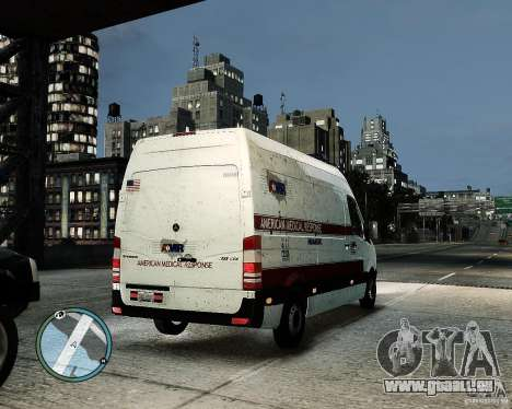Mercedes Benz Sprinter American Medical Response für GTA 4 Rückansicht
