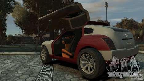 Infiniti Triant Concept für GTA 4 hinten links Ansicht