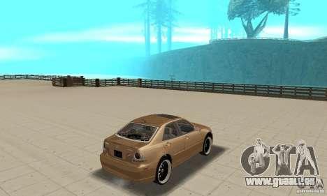 Lexus IS300 2005 pour GTA San Andreas laissé vue