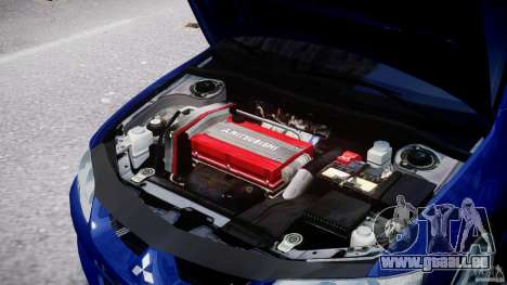 Mitsubishi Lancer Evolution VIII für GTA 4 Rückansicht