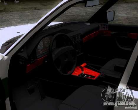 BMW E34 Policija für GTA San Andreas rechten Ansicht