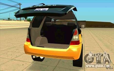 Subaru Forester Cross Sport 2005 pour GTA San Andreas vue arrière