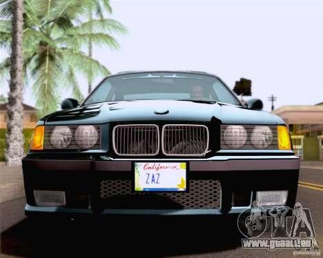 BMW M3 E36 New Wheels pour GTA San Andreas vue de dessus