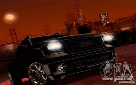 GMC Sierra 2011 für GTA San Andreas obere Ansicht
