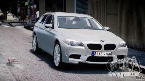 BMW M5 F11 Touring pour GTA 4 Vue arrière
