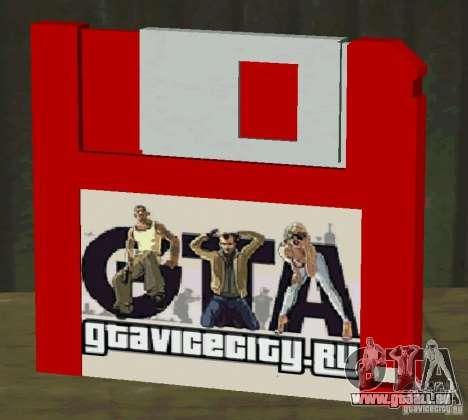 Neue HD-Diskette speichern für GTA San Andreas dritten Screenshot