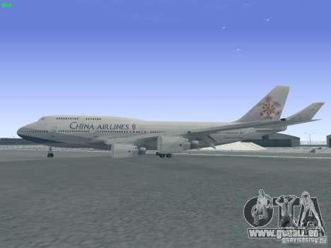Boeing 747-400 China Airlines für GTA San Andreas linke Ansicht
