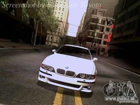 BMW E39 M5 2004 pour GTA San Andreas moteur