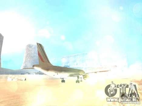 Airbus A320 Air France für GTA San Andreas Seitenansicht
