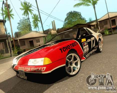 Need for Speed Elegy für GTA San Andreas Rückansicht