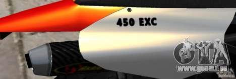 KTM EXC 450 für GTA 4 Innenansicht