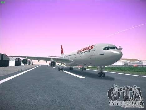 Airbus A340-300 Swiss International Airlines für GTA San Andreas zurück linke Ansicht
