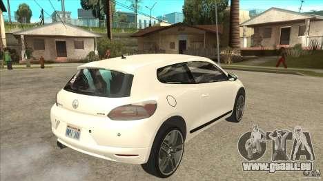 Volkswagen Scirocco 2009 für GTA San Andreas rechten Ansicht