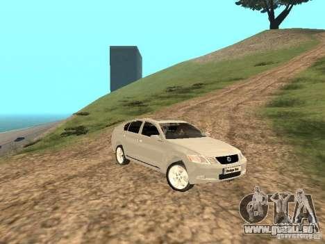 Lexus GS-350 für GTA San Andreas Seitenansicht