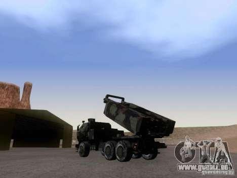 M142 HIMARS Artillery pour GTA San Andreas laissé vue