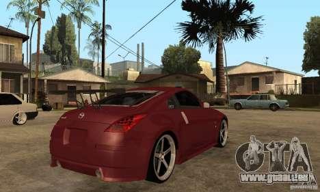 Nissan 350Z JC2 für GTA San Andreas rechten Ansicht