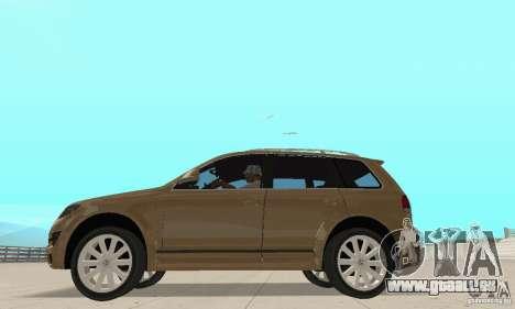 Volkswagen Touareg 2008 pour GTA San Andreas sur la vue arrière gauche