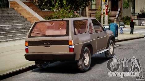 Nissan Terrano für GTA 4 Seitenansicht