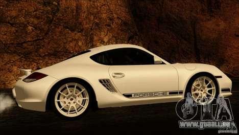 Porsche Cayman R 987 2011 V1.0 für GTA San Andreas Unteransicht