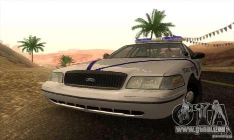 Ford Crown Victoria Arkansas Police pour GTA San Andreas sur la vue arrière gauche