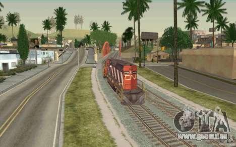 CN SD40 ZEBRA STRIPES pour GTA San Andreas vue arrière