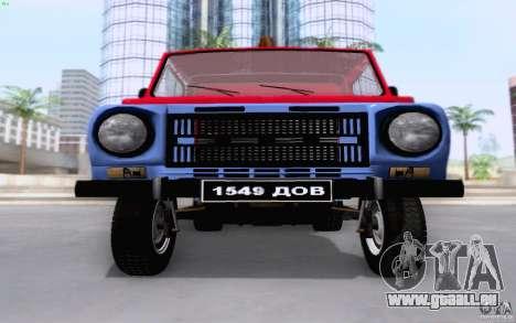 Camion de remorquage LuAZ 13021 pour GTA San Andreas vue intérieure