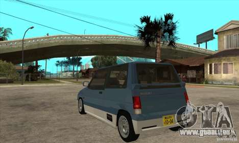 Suzuki Alto Works pour GTA San Andreas sur la vue arrière gauche