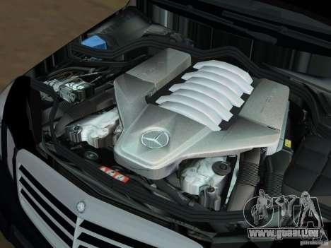 Mercedes-Benz E63 AMG für GTA Vice City Ansicht von unten