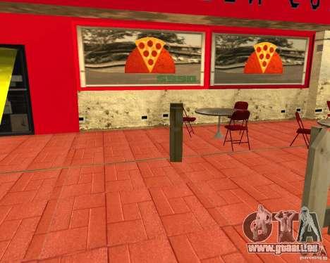 Achat de pizza pour GTA San Andreas troisième écran