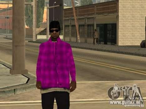 Neue Skins Ballas für GTA San Andreas fünften Screenshot