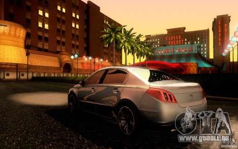 Peugeot 508 2011 pour GTA San Andreas vue arrière