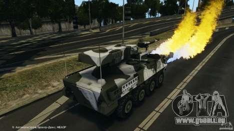 Stryker M1128 Mobile Gun System v1.0 für GTA 4 Unteransicht