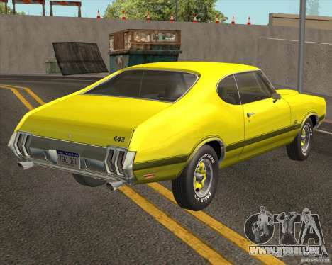 Oldsmobile 442 (fixed version) für GTA San Andreas zurück linke Ansicht