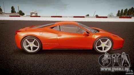 Ferrari 458 Italia 2010 für GTA 4 linke Ansicht