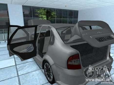 Kalina 1118 VAZ pour GTA San Andreas vue arrière