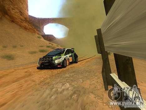 Ford Fiesta RS WRC 2012 pour GTA San Andreas vue arrière