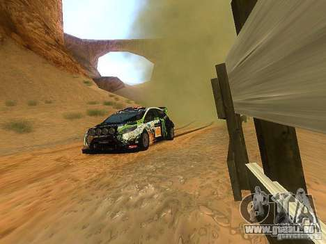 Ford Fiesta RS WRC 2012 für GTA San Andreas Rückansicht