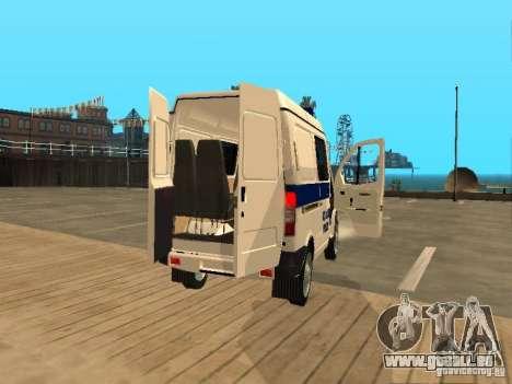 GAZ 2217 Sobol POLICE pour GTA San Andreas vue arrière