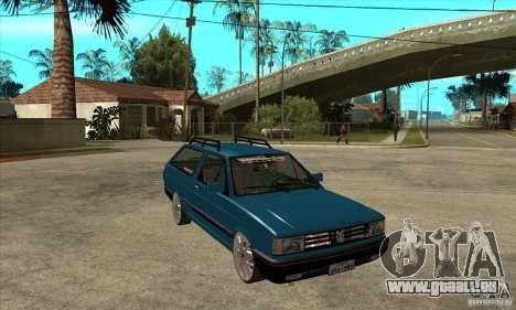 VW Parati GLS 1989 JHAcker edition pour GTA San Andreas vue arrière