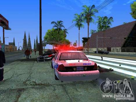 Ford Crown Victoria Police Patrol pour GTA San Andreas vue intérieure