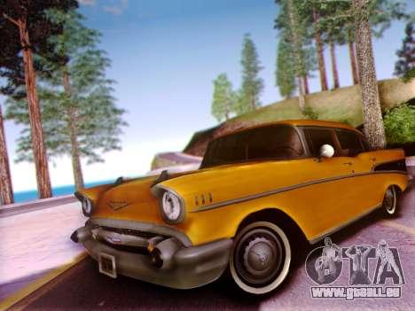 Chevrolet Bel Air 4-Door Sedan 1957 für GTA San Andreas Innenansicht