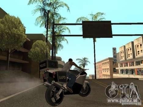 NRG-500 Police für GTA San Andreas Rückansicht