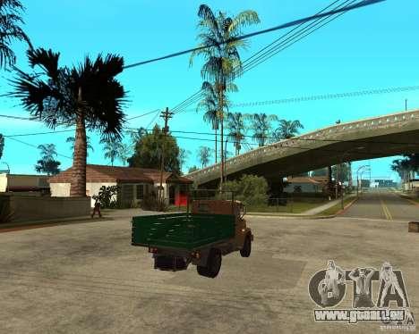 ZIL-433362 Extra Pack 1 pour GTA San Andreas vue intérieure