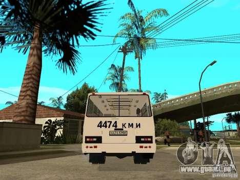 PAZ 3205 für GTA San Andreas zurück linke Ansicht