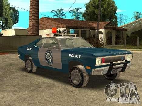 Plymout Duster 340 POLICE v2 pour GTA San Andreas vue intérieure