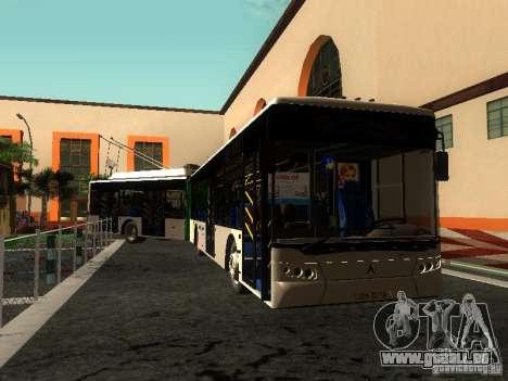 Trolleybus LAZ E301 für GTA San Andreas Unteransicht