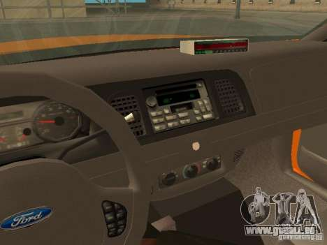 Ford Crown Victoria San Francisco Cab für GTA San Andreas Seitenansicht