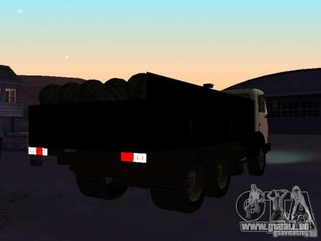 KAMAZ 53212 ouvert pour GTA San Andreas vue de droite